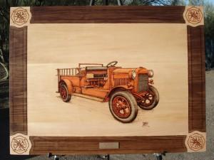 1923 GMC Pumper Fire Truck Woodburning