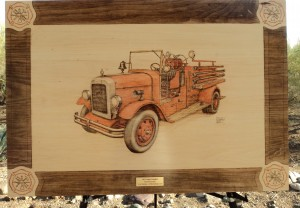 1927 Hahn Pumper Fire Truck Woodburning