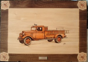1934 Ford Tender Fire Truck Woodburning