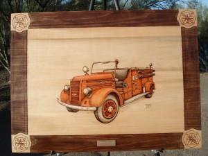 1944 Mack Pumper Woodburning