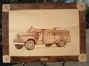 1959 Mack Pumper Woodburning