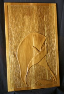 Calla Lily Wood Carving