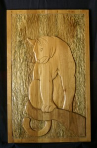 Cat Wood Carving