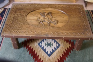 Coffee Table Wood Carving