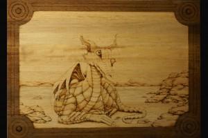 Dragon Woodburning