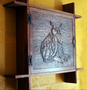 Dragon Cabinet Wood Carving