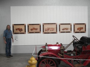 Art Exhibit at Hall of Flame Museum Woodburnings
