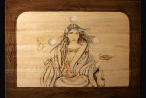 Healer Woman Woodburning