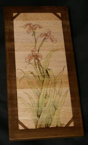 Lily Flowers Woodburning