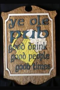 Ye Ole Pub Wood Carving