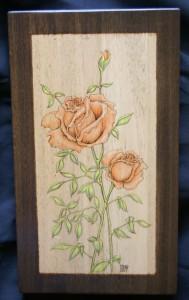 Red Roses Woodburninig
