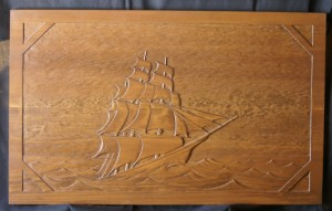 Sailing Away Wood Carving