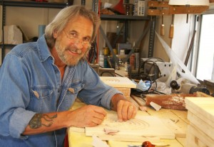 Master craftsman, Tom Dunlap, in his studio.