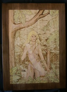 Wood Nymph Woodburning